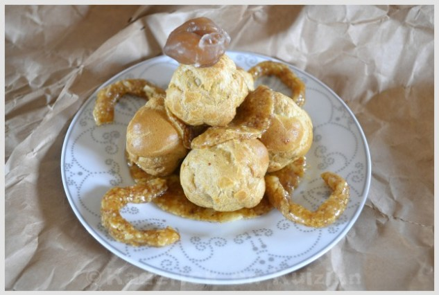 Recette de la pièce montée à la crème de marron pour Culino Versions, un dessert présenté avec un marron glacé
