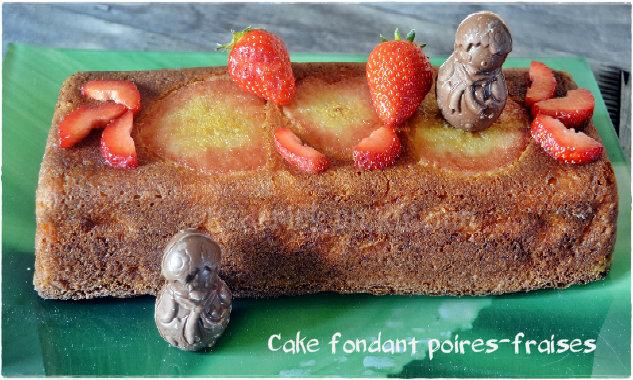 Recette du Cake moelleux aux poires et fraises bio, un dessert pour Culino Versions