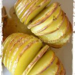 Recette des pommes de terre Hasselback avec une jolie découpe pour les recettes de fêtes