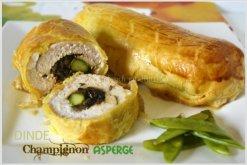 Feuilleté de dinde champignon asperge verte pour le thème de Culino Versions
