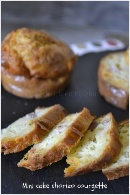 Recette Mini Cake Courgette Chorizo