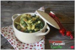 Recette de la cocotte de crevettes aux épinards et calamars avec une sauce à la crème légère