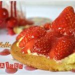 Recette des tartelettes aux fraises crème pâtissière et coulis de fraises maison