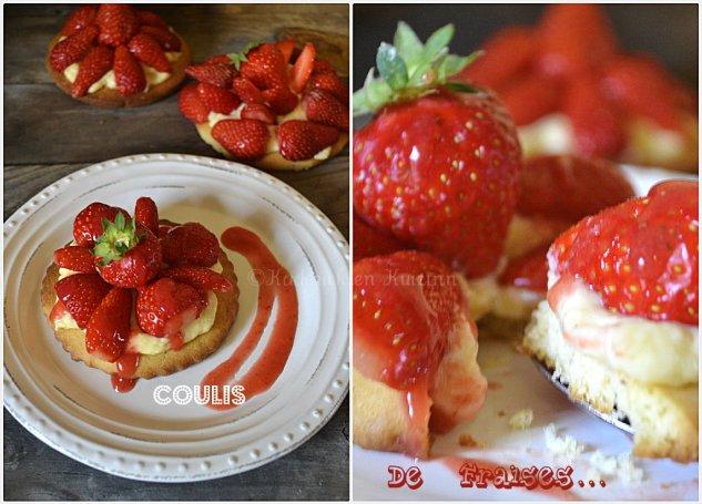 recette des tartelettes au coulis de fraises bio maison pour un dessert gourmand ou un goûter