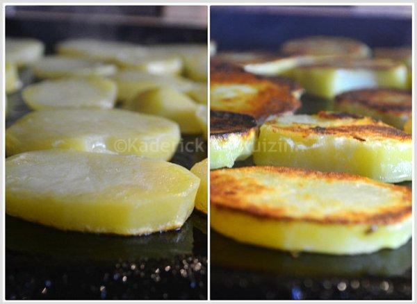 Cuisson plancha pomme de terre rissolées à la plancha pour accompagner une viande ou un poisson