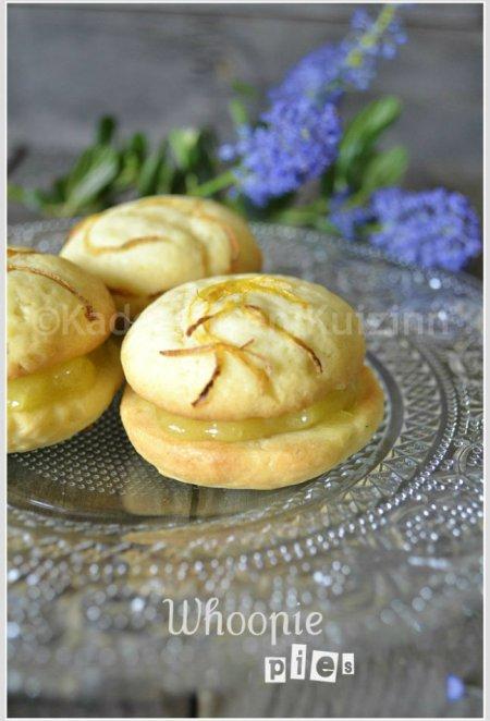 Dégustation des whoopie pies au lemon curd avec des zestes de citron sur ©Kaderick en Kuizinn