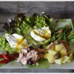 Recette salade et œufs mollets à la niçoise pour un repas léger et frais en été