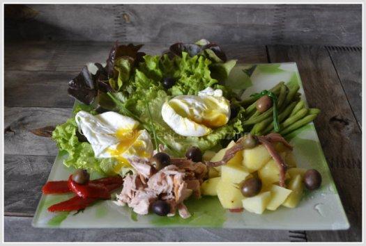 Recette salade et oeufs mollets à la niçoise pour un repas léger et frais en été