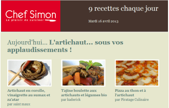 Selection Chef Simon Tajine aux artichauts
