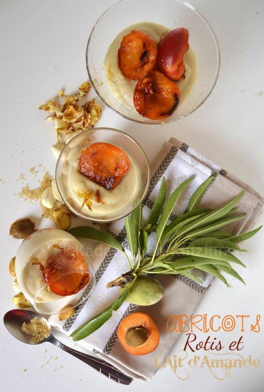 Abricots rôtis & lait d'amande pour un dessert tiré du livre {Plancha} des éditions Solar
