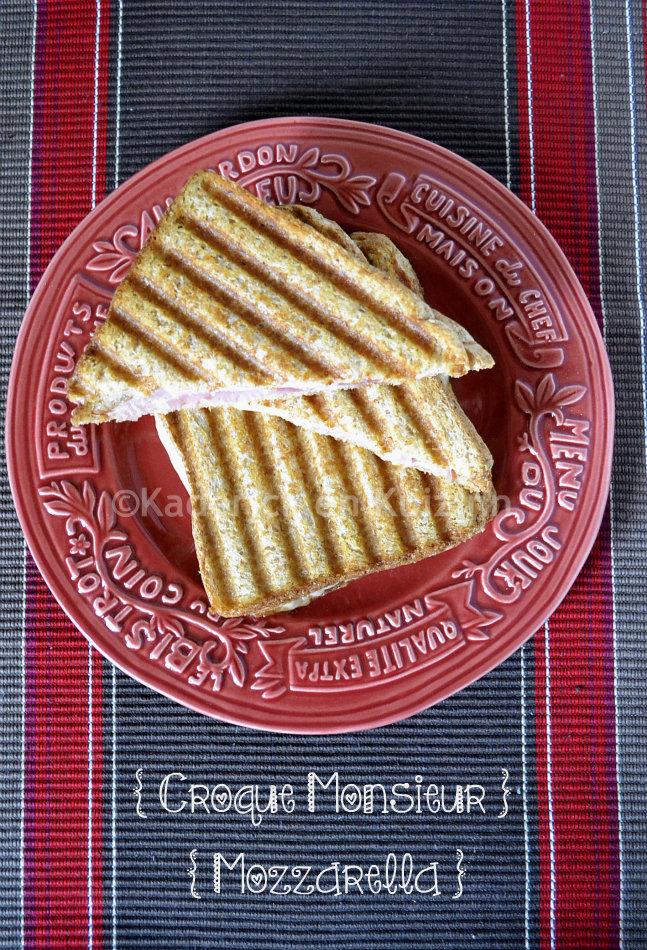Dégustation croque monsieur mozzarella Warburtons un produit Anglais que l'on m'a demandé de tester