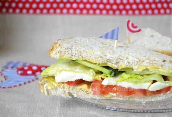 Recette du club sandwich aux crudités Warburtons des pain de mie anglais que l'on m'a offert