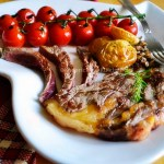 Recette faux filet et tomates cerise bio en grappe à la plancha