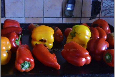 Recettes poivrons bio multicolores rouge et jaune cuits à la plancha