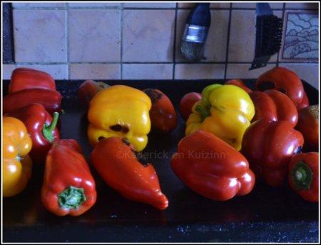 Recette poivrons bio multicolores rouge et jaune cuits à la plancha