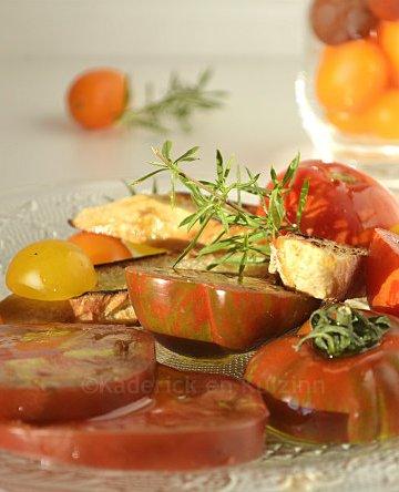 Recette salade de tomates anciennes bio & huile olive {Terre de Crète} mon nouveau partenariat