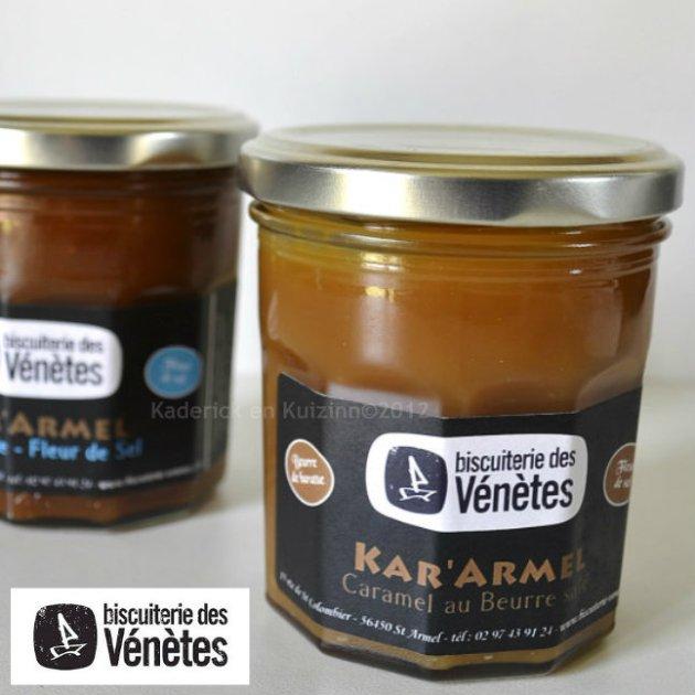 Caramel au beurre salé ~ Biscuiterie des Vénètes un dessert préparé avec la pâte à tartiner au caramel de mon partenaire