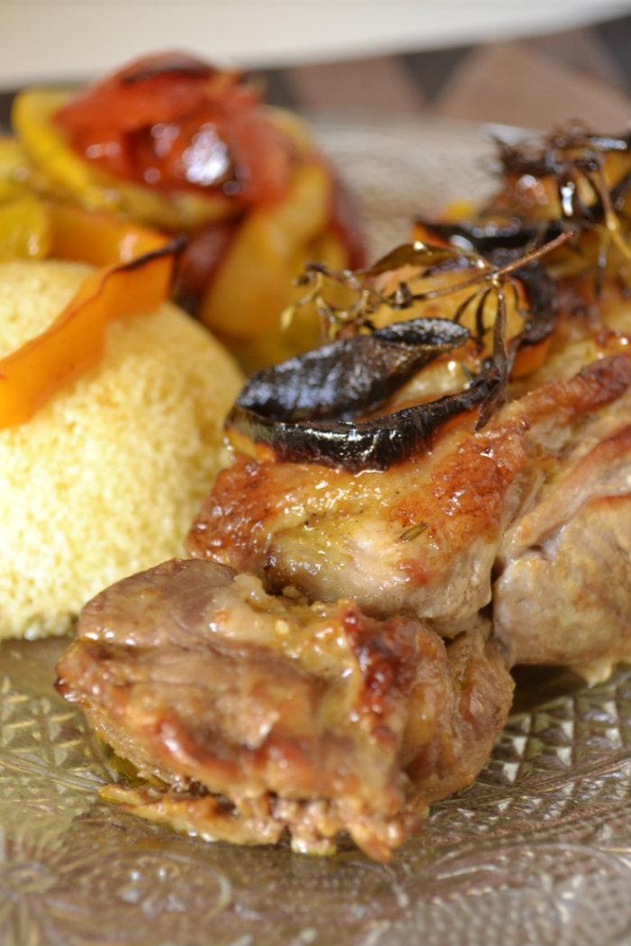 Gigot d 39 agneau l gumes bio r tis et semoule recette - Cuisine provena ale jaune et verte ...