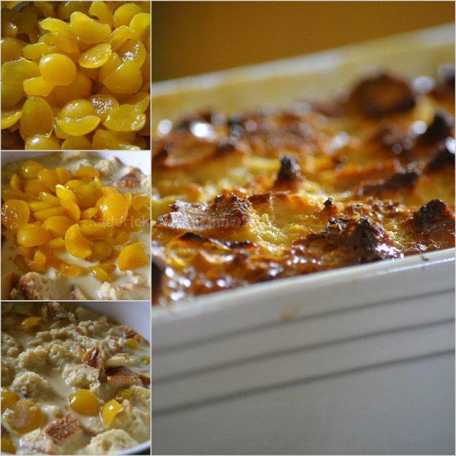 Préparation de la recette du gateau de pain aux mirabelles bio pour un dessert gourmand - Kaderick en Kuizinn©