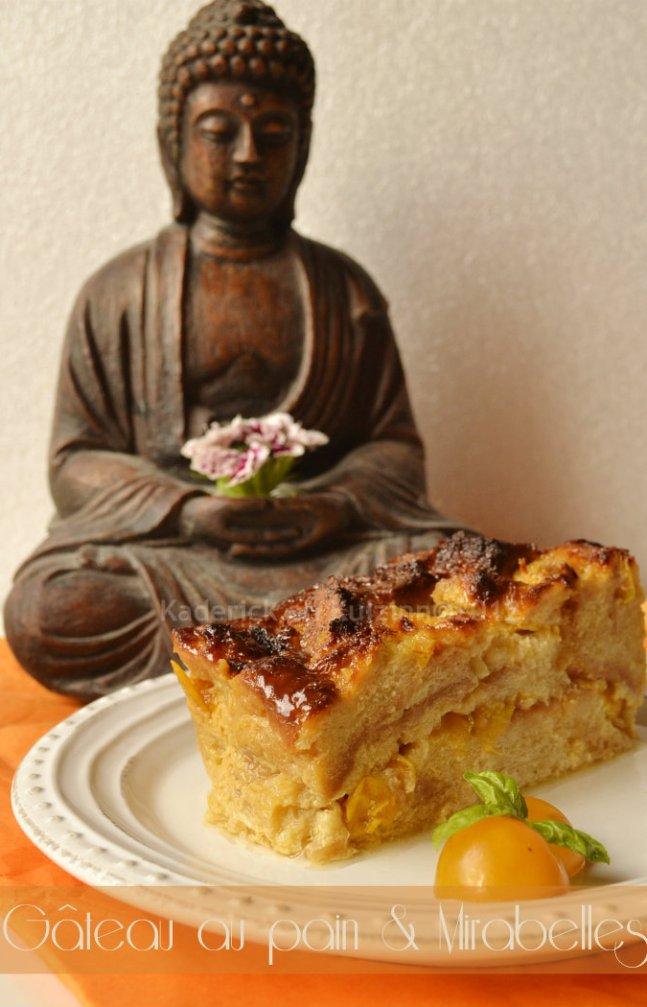 Recette facile du gateau de pain aux mirabelles bio pour un dessert gourmand - Kaderick en Kuizinn©