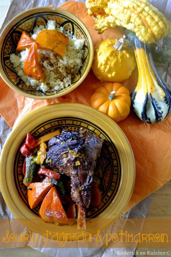Recette de souris agneau en tajine aux légumes d'automne pour le thème de Culino Versions - Kaderick en Kuizinn©