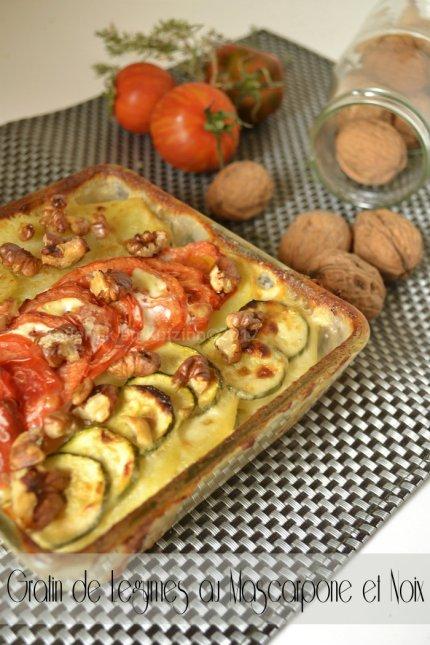Recette facile du gratin dauphinois aux légumes bio au mascarpone et noix pour un plat végétarien complet - Kaderick en Kuizinn©