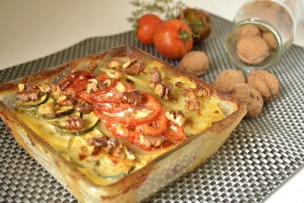 Recette du gratin dauphinois aux légumes bio au mascarpone et noix pour un plat végétarien complet - Kaderick en Kuizinn©