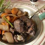 Recette joues de boeuf en bourguignon à la mijoteuse avec des pommes de terre et des carottes bio - Kaderick en Kuizinn©