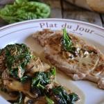 Recette du filet de veau à la plancha, sauce champignons et épinards bio pour un repas de fêtes - Kaderick en Kuizinn©