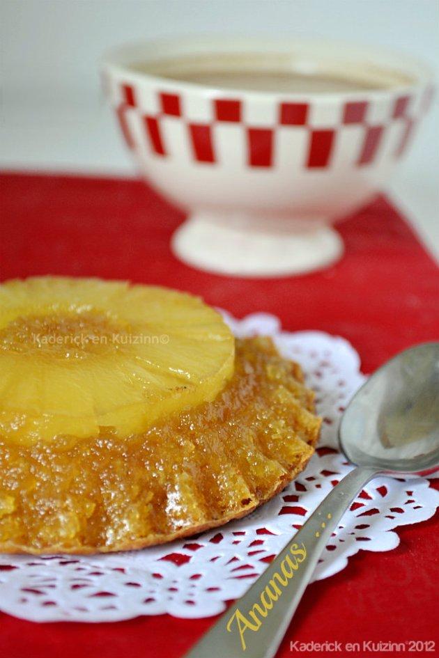 Recette du petit gâteau renversé à l'ananas caramélisé, un dessert de souvenir d'enfance - Kaderick en Kuizinn©