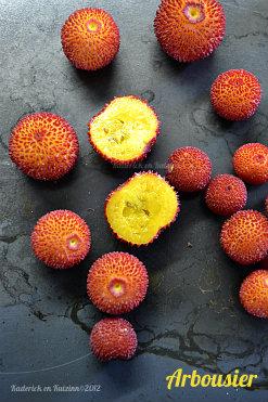 Recette du carpaccio aux fruits bio avec des kiwis, clémentines et fruits d'arbousier - Kaderick en Kuizinn©2012