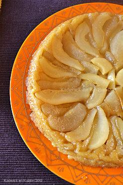 Ingrédients de la recette tarte tatin aux poires bio caramélisées avec une pâte brisée maison - Kaderick en Kuizinn©