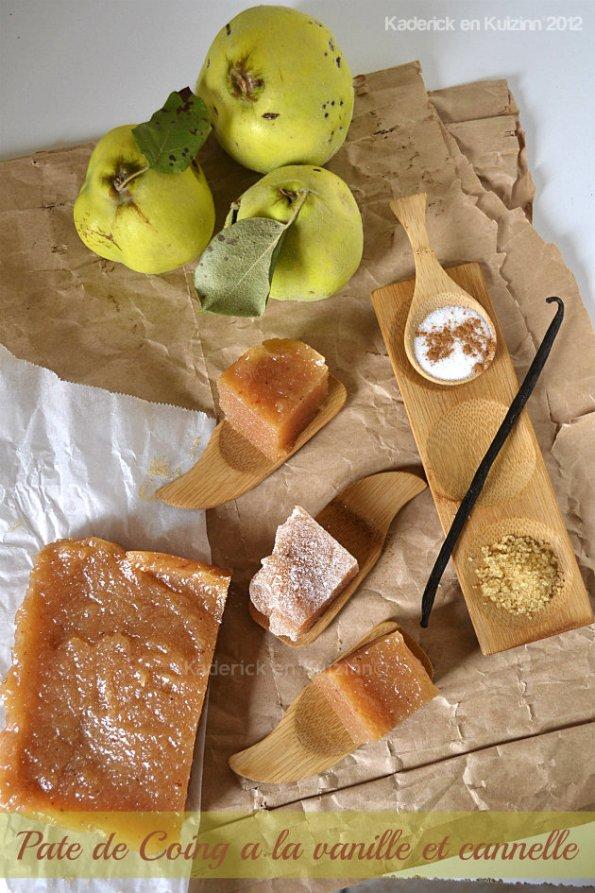 Pâte de coing vanille et cannelle pour un dessert d'enfance - Kaderick en Kuizinn©
