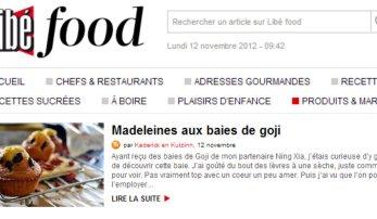Sélection de Libefood en produits & marques des madeleines aux baies de goji - Kaderick en Kuizinn©