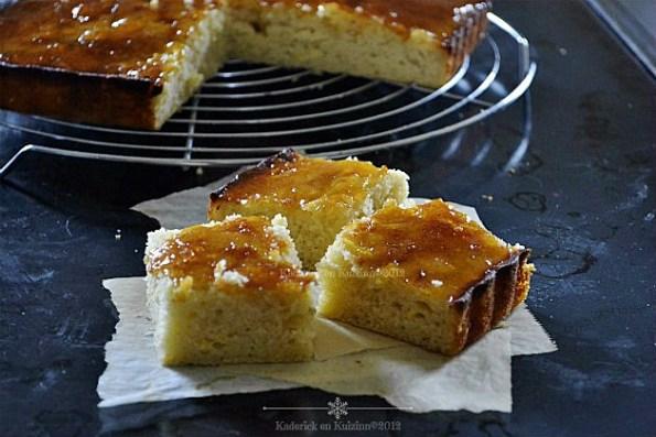 Gâteau citron et lait iben au caramel de fait avec de segments - Kaderick en Kuizinn©2012