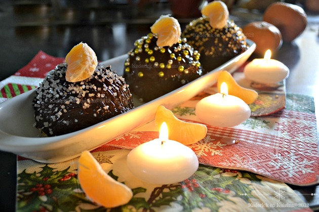 Recette boules Noel chocolat genoise clementines curd
