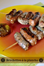 Cuisine plancha - Recette brochettes aux 3 saucisses cuitent à la plancha avec de la saucisse de Toulouse, aux herbes et catalane - Kaderick en Kuizinn©2013