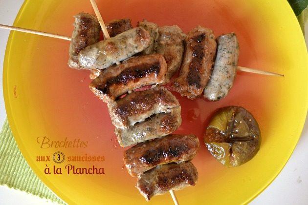 Recette brochettes aux 3 saucisses cuitent à la plancha avec de la saucisse de Toulouse, aux herbes et catalane - Kaderick en Kuizinn©2013