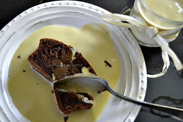 Recette du cake chocolat noir au lait fermenté et sa crème anglaise maison - Kaderick en Kuizinn©2013
