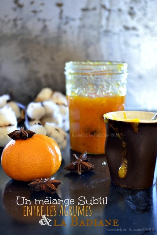Recette confiture d'hiver, orange, clémentine, pamplemousse bio & badiane pour un mélange subtil entre les agrumes et à l'anis étoilé - Kaderick en Kuizinn©201