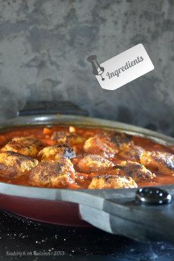 Recette des boulettes de chorizo à la sauce provençale maison cuitent dans ma poêle en granit de mon partenaire Granistyl® - Kaderick en Kuizinn©201