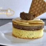 Recette génoise de crème de marrons et tartare de pommes pour un dessert du jour - Kaderick en Kuizinn©2013