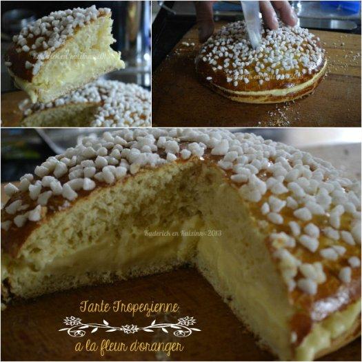 Recette tarte Tahitienne comme une tarte Tropezienne mais à la mangue, fruits de la passion et noix de coco avec les produits Vahiné® - Kaderick en Kuzinn©2013