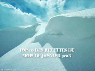 Top 10 recettes Janvier 2013