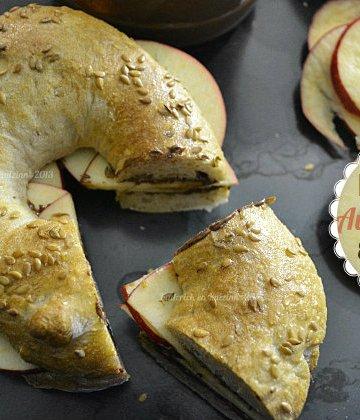Recette des bagels aux pommes et au chocolat nutella pour un goûter gourmand - Kaderick en Kuizinn©2013