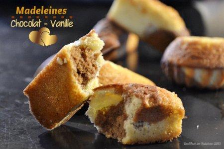 Recette madeleines mi chocolat mi vanille pour des moelleux marbrés au bon goût de beurre - Kaderick en Kuizinn©2013