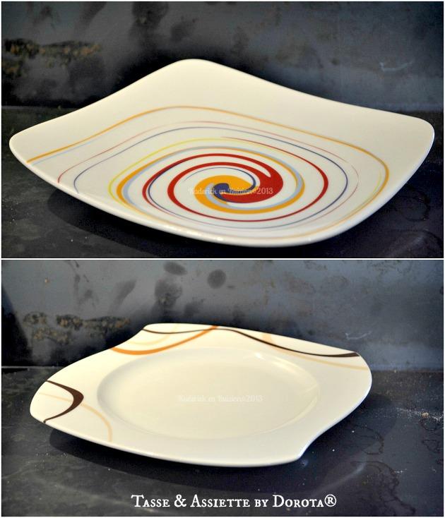 Des assiettes graphiques creuses et plates en partenariat avec Tasse & Assiette By Dorota® - Kaderick en Kuizinn©2013