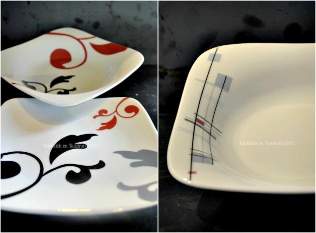 Vaisselle rouge et noir, des assiettes creuses en partenariat avec Tasse & Assiette By Dorota® - Kaderick en Kuizinn©2013