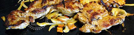 Recettes plancha Araignée de porc tandoori cuite à la plancha pour une recette de cuisine facile