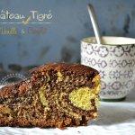 Recette dessert du gâteau tigré à la vanille et chocolat accompagné de crème anglaise